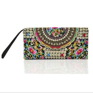 Handbags - Just In! Embroidery Clutch Wallet